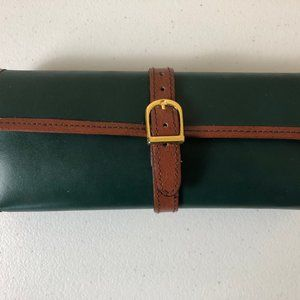 Green Tri-fold Jewelry Travel Case